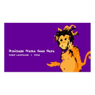 purple monkey ink business card template