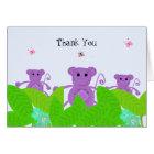 Purple Monkey Thank You Card