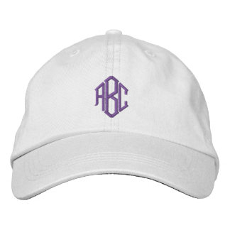 Purple Monogram Embroidered Hat