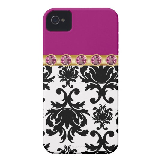 Purple Monogram iPhone 4 Cases