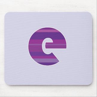 Purple Monogram - Letter E Mouse Mat