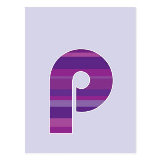 Purple Monogram - Letter P Postcard
