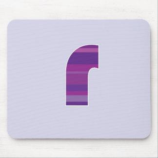 Purple Monogram - Letter R Mouse Pad
