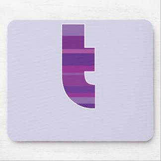Purple Monogram - Letter T Mouse Pad