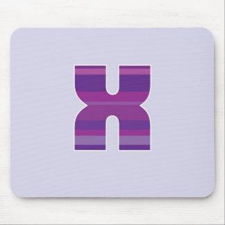 Purple Monogram - Letter X Mouse Pads