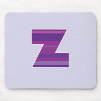 Purple Monogram - Letter Z Mouse Pad