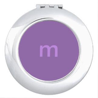 Purple Monogrammed Compact Mirror