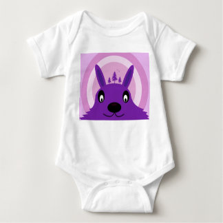 Purple Monster Baby Bodysuit