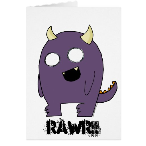 Purple Monster Cards