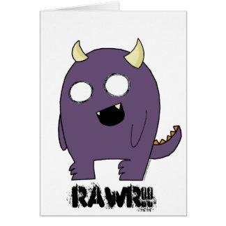 Purple Monster Greeting Card