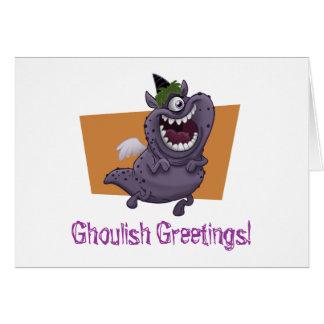 Purple Monster Halloween Card