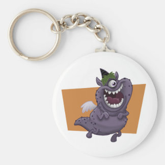 Purple Monster Keychain
