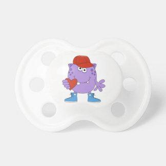 Purple Monster Love Baby Pacifier