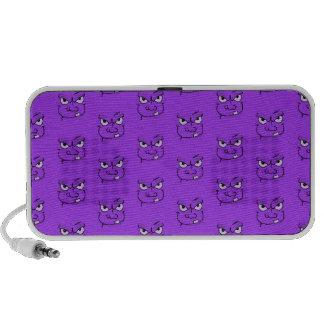 purple monster people eater faces speakers