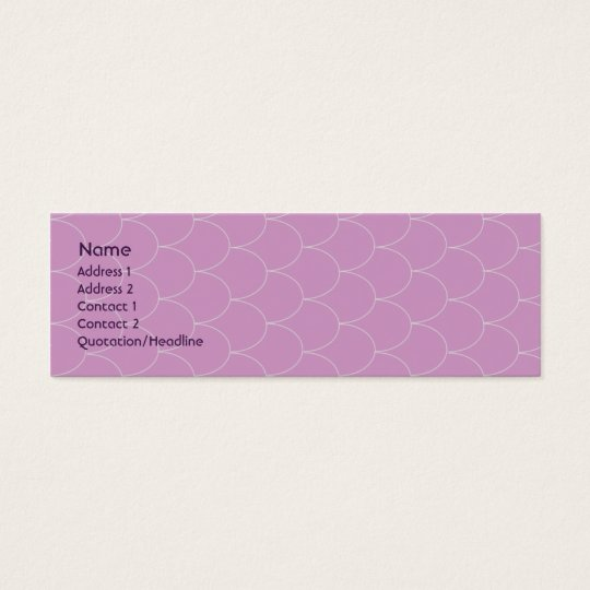 Purple Monster - Skinny Mini Business Card