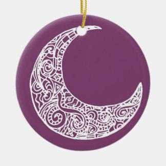 purple moon christmas ornament