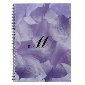 Purple Moon Flower Spiral Notebook