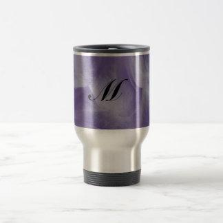 Purple Moon Flower Stainless Steel Travel Mug