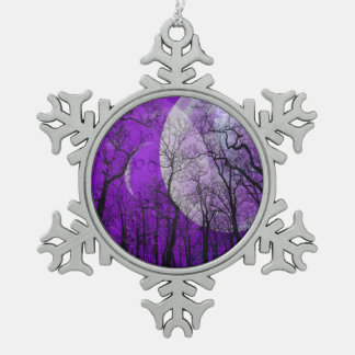 Purple moon forest customize color ornament