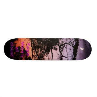 Purple Moon is all around 21.3 Cm Mini Skateboard Deck
