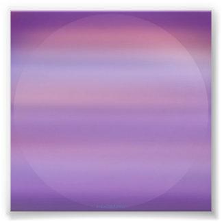 Purple Moon Mist Photo Print
