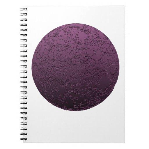 Purple Moon Spiral Note Book