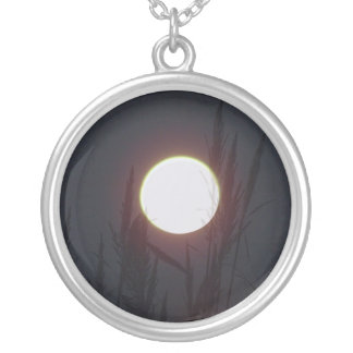 purple moon silver plated necklace