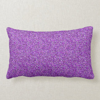 Purple Moondust Glitter Pattern Lumbar Pillow