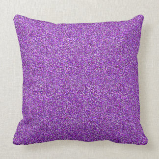 Purple Moondust Glitter Pattern Throw Pillow
