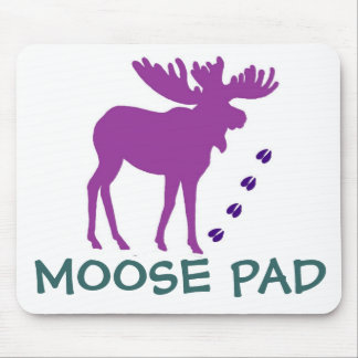 Purple MOOSE Pad Mouse Mat