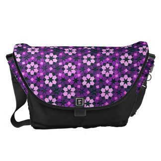 Purple Moroccan Flower Pattern Courier Bag