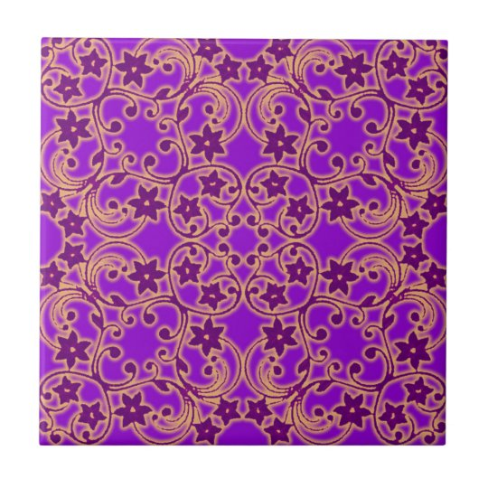 Purple Moroccan Pattern Tile