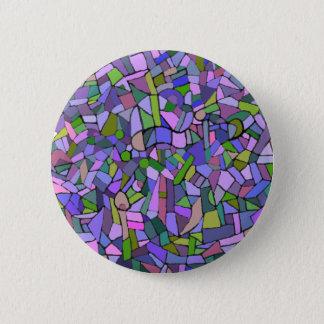 Purple Mosaic Abstract 6 Cm Round Badge