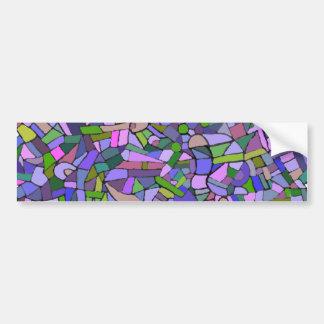 Purple Mosaic Abstract Bumper Sticker