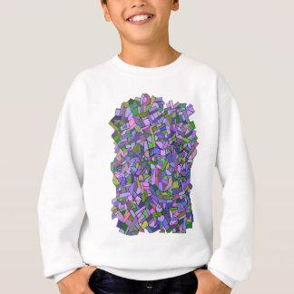 Purple Mosaic Abstract Sweatshirt