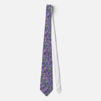 Purple Mosaic Abstract Tie