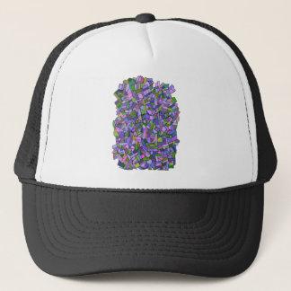 Purple Mosaic Abstract Trucker Hat