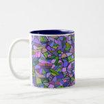 Purple Mosaic Abstract Two-Tone Mug