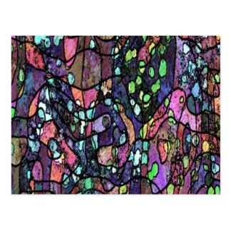 Purple Mosaic Design Postcard