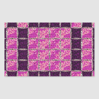 Purple Mosaic Tile Look Rectangular Sticker