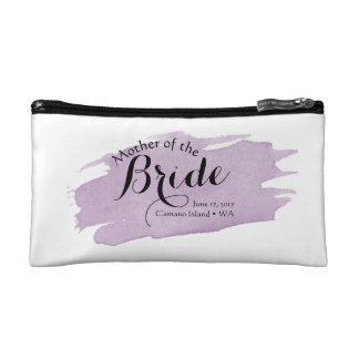 Purple Mother of the Bride Cosmetic Case Makeup Bags