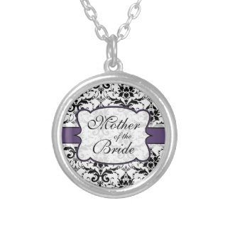 (Purple) Mother of the Bride Damask Necklace