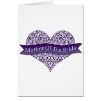 Purple Mother of the Bride Greeting Card