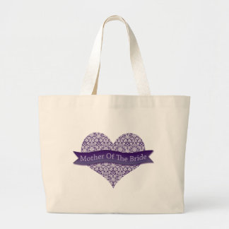 Purple Mother of the Bride Large Tote Bag