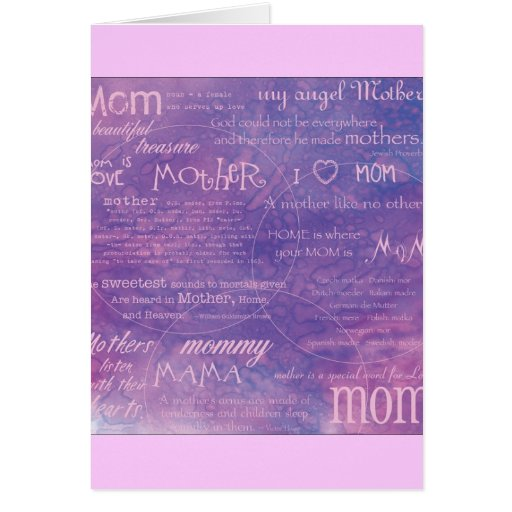 purple mothers day greeting cards
