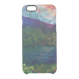Purple mountain clear iPhone 6/6S case