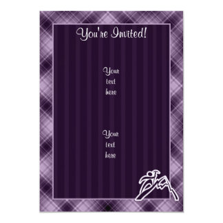 Purple Mountain Climbing 13 Cm X 18 Cm Invitation Card