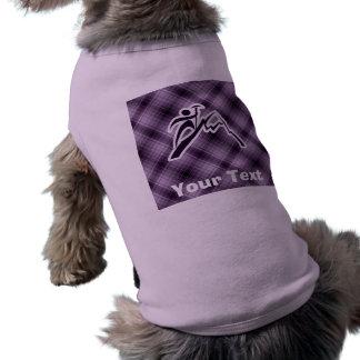 Purple Mountain Climbing Sleeveless Dog Shirt
