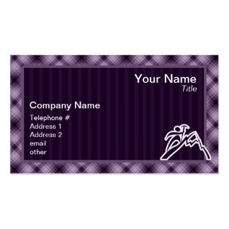 Purple Mountain Climbing Pack Of Standard Business Cards