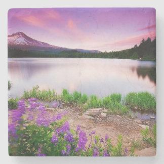 Purple mountain majesty stone beverage coaster